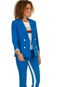 Aaiko |  Double-breasted blazer Cella | blue  | Picture 2