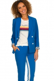 Aaiko |  Double-breasted blazer Cella | blue  | Picture 4