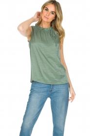 Knit-ted | Top Karo | groen  | Afbeelding 2