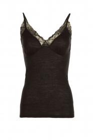 Hanro | Spaghetti top Woolen Lace | zwart  | Afbeelding 1