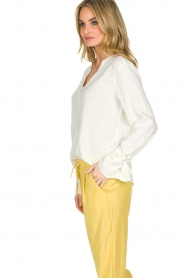 Knit-ted | Blouse Evy | White  | Afbeelding 4