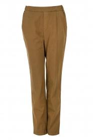 Leon & Harper | Pantalon Paisley | khaki   | Afbeelding 1