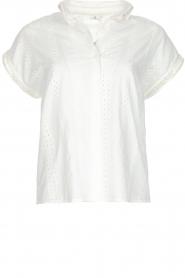 Knit-ted | Top met borduursels Alice | gebroken wit  | Afbeelding 1