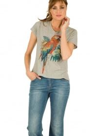 Leon & Harper | T-shirt  Parrot | grijs  | Afbeelding 2