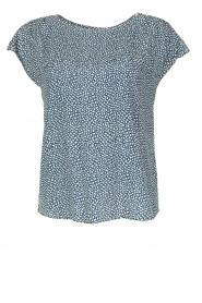 Knit-ted | Top Karlein | blauw  | Afbeelding 1