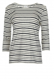 Knit-ted |  Striped top Esma | Blue  | Picture 1