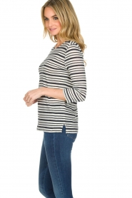 Knit-ted |  Striped top Esma | Blue  | Picture 4