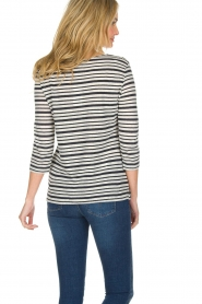 Knit-ted |  Striped top Esma | Blue  | Picture 5