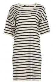 Set |  Striped dress Juna | white  | Picture 1