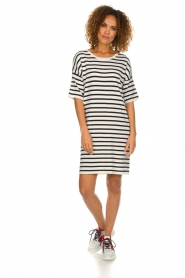 Set |  Striped dress Juna | white  | Picture 3