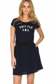Knit-ted | T-shirt Saar | blauw  | Afbeelding 2