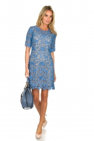 Set |  Lace dress Quirine | blue  | Picture 3