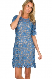 Set |  Lace dress Quirine | blue  | Picture 2
