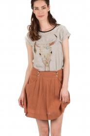 Leon & Harper | T-shirt Tova Cow | grijs   | Afbeelding 2