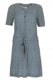 Knit-ted | Bloemenprint jurk Kim | blauw  | Afbeelding 1