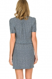 Knit-ted |  Flowerprint dress Kim | blue  | Picture 5