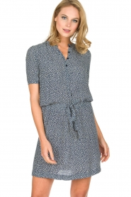 Knit-ted |  Flowerprint dress Kim | blue  | Picture 2