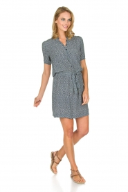 Knit-ted |  Flowerprint dress Kim | blue  | Picture 3