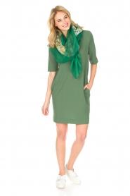 Knit-ted | Jurk Ella | groen  | Afbeelding 3