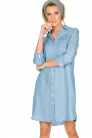 Knit-ted | Spijkerjurk Noor | blauw  | Afbeelding 2