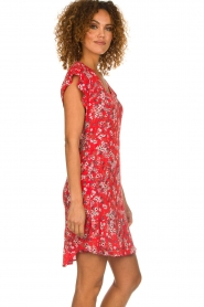 Set |  Dress with floral design Ally | red  | Picture 4