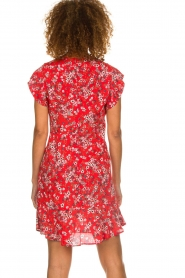 Set |  Dress with floral design Ally | red  | Picture 5