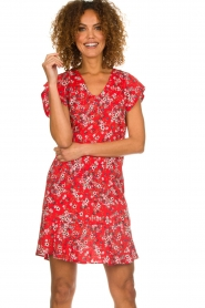 Set |  Dress with floral design Ally | red  | Picture 2