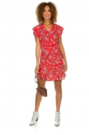 Set |  Dress with floral design Ally | red  | Picture 3