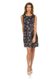 Set |  Dress with floral print Lea | blue  | Picture 3