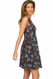 Set |  Dress with floral print Lea | blue  | Picture 4