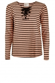 Lace-up shirt Thorn | striped