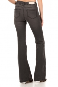 Washed 5-pocket flared jeans Liv | black
