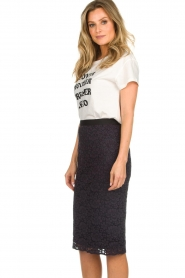 Set |  Pencil skirt with lace Eletta | navy  | Picture 4