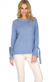 Knit-ted | Trui Jessica | blauw  | Afbeelding 2