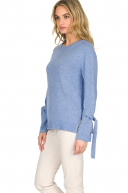 Knit-ted | Trui Jessica | blauw  | Afbeelding 4