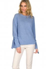 Knit-ted | Trui Jessica | blauw  | Afbeelding 6