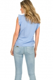 Set |  Striped top with ruffles Lottie | blue  | Picture 6
