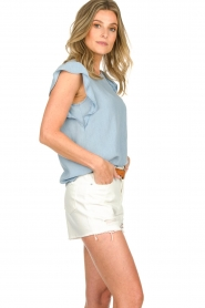 Set |  Top with ruffle sleeves Philou | blue  | Picture 5