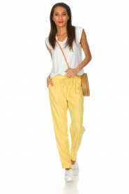 Knit-ted |  Pants Kiara | yellow  | Picture 3
