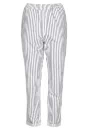 Knit-ted |  Striped pants Joan | Grey   | Picture 1