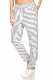 Knit-ted |  Striped pants Joan | Grey   | Picture 4