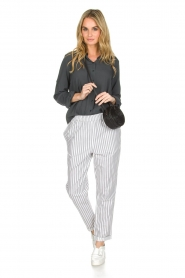 Knit-ted |  Striped pants Joan | Grey   | Picture 2