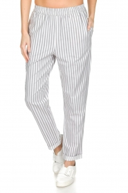 Knit-ted |  Striped pants Joan | Grey   | Picture 3