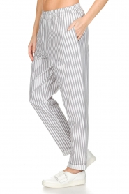 Knit-ted |  Striped pants Joan | Grey   | Picture 5