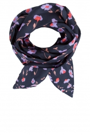Becksöndergaard |  Silk scarf Slimmy Jillian | dark blue  | Picture 1