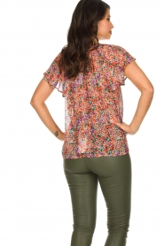 Set |  Floral blouse with ruffles Bloom | print  | Picture 5