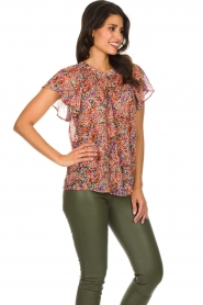 Set |  Floral blouse with ruffles Bloom | print  | Picture 4