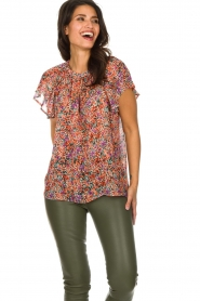 Set |  Floral blouse with ruffles Bloom | print  | Picture 2