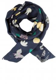 Becksöndergaard |  Silk scarf Slimmy Thyme | Dark blue  | Picture 1