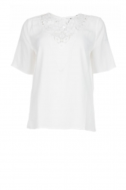 Set |  Top with lace neckline Kimberly | white  | Picture 1